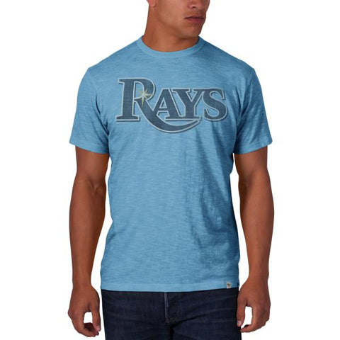Shop Tampa Bay Rays 47 Brand Cooperstown Baby Blue Vintage Logo Scrum T-Shirt