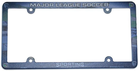 "Shop Sporting KC Wincraft Official MLS Plastic License Plate Frame (12"" by 6"")"