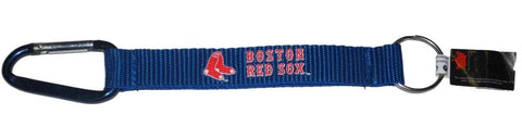 Shop Boston Red Sox Aminco Inc. Blue Red Carabiner Keychain Key Tag - Sporting Up