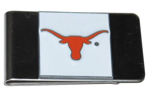 Shop Texas Longhorns Siskiyou White Orange Logo Stainless Steel Money Clip Wallet