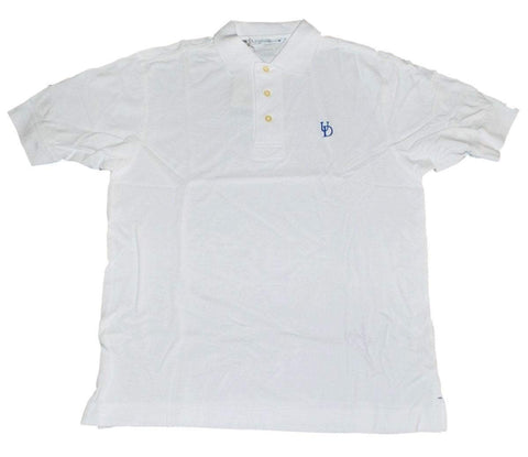 Delaware Fightin' Blue Hens Cutter & Buck White Cotton Golf Polo Shirt