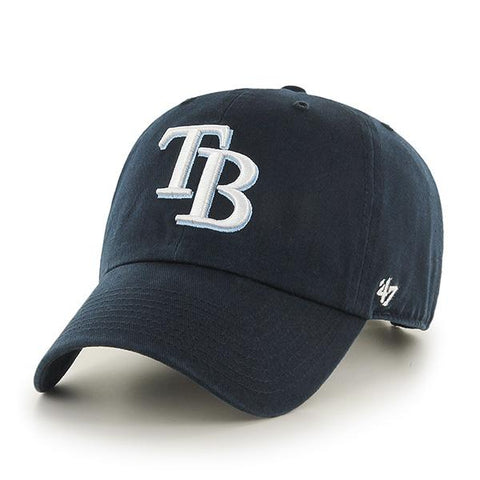 Shop Tampa Bay Rays 47 Brand Navy Home Clean Up Slouch Adjustable Strap Hat Cap