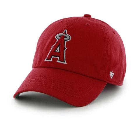 Los Angeles Angels 47 Brand Red The Franchise Fitted Hat Cap
