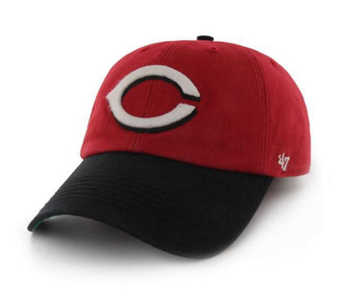 Shop Cincinnati Reds 47 Brand Red Black The Franchise Fitted Hat Cap