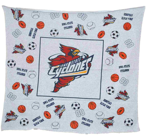 "Shop Iowa State Cyclones Decorative Linens Youth Gray Throw Blanket 45""x 45"""