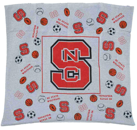 "Shop North Carolina State Wolfpack DFL Inc. Youth Gray Throw Blanket 45""x 45"""