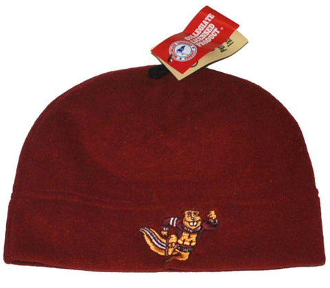 Shop Minnesota Golden Gophers GII Embroidered Logo Maroon Fleece Cap Hat Beanie