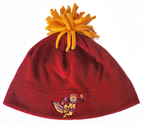 Shop Minnesota Golden Gophers GII Embroidered Logo Maroon Fleece Pom Cap Hat Beanie