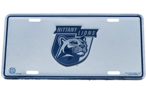 Shop Penn State Nittany Lions Rico Industries Silver Mirror License Plate - Sporting Up
