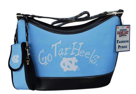 "Shop North Carolina Tar Heels Game Day Outfitters Womens Light Blue Purse 12"" x 7.25"" - Sporting Up"