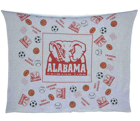 "Shop Alabama Crimson Tide DFL Youth Gray Throw Blanket 45""x 45"""