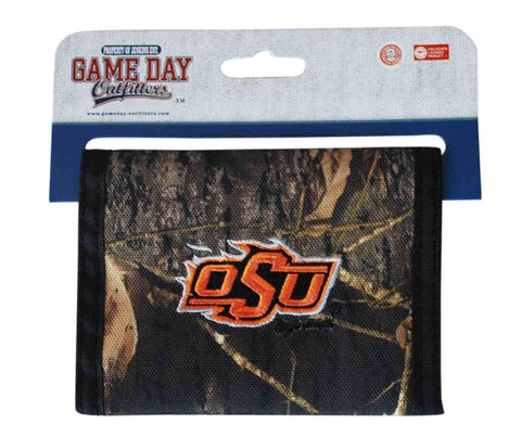 "Shop Oklahoma State Cowboys Game Day Outfitters Mens Camo Wallet 4.9"" x 3.5"" - Sporting Up"