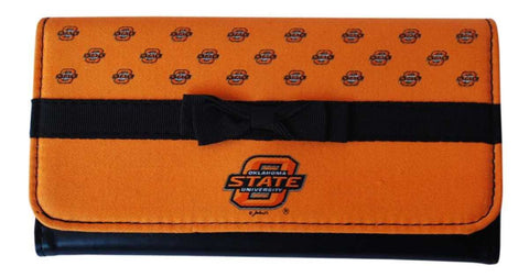 "Shop Oklahoma State Cowboys Game Day Outfitters Womens Bowtie Orange Wallet 7.5"" x 4"""