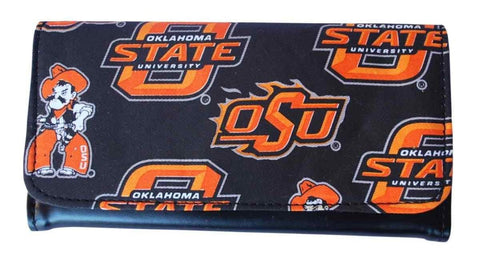 "Shop Oklahoma State Cowboys Game Day Outfitters Womens Black Wallet 7.5"" x 4"" - Sporting Up"