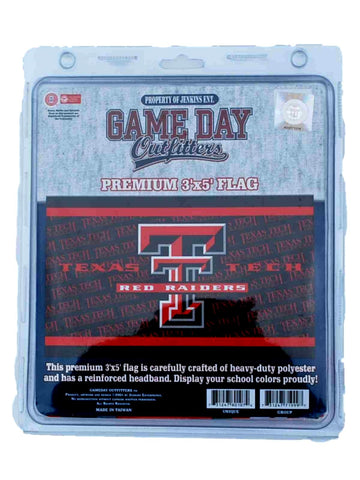 Shop Texas Tech Red Raiders Game Day Outfitters Premium Red Black Flag (3' X 5') - Sporting Up
