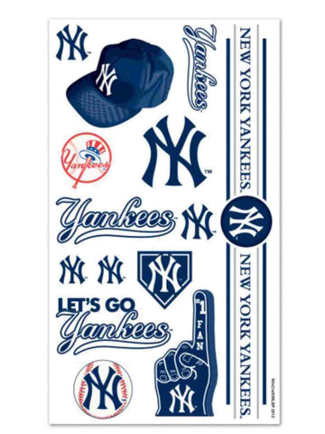 Shop New York Yankees WinCraft Gameday Navy Red Temporary Tattoos