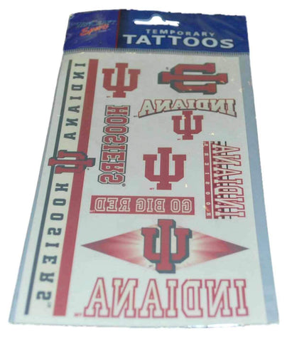 Shop Indiana Hoosiers WinCraft Gameday Red White Temporary Tattoos (Set of 2)