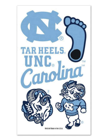 Shop North Carolina Tar Heels WinCraft Gameday Blue Temporary Tattoos