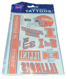 Illinois Fighting Illini WinCraft Gameday Orange Temporary Tattoos (Set of 2) - Sporting Up