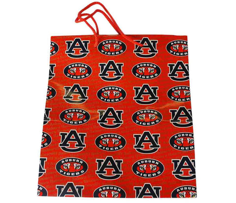 "Shop Auburn Tigers Game Day Outfitters Printed Logo Orange Gift Bag (10.5"" x 12"")"