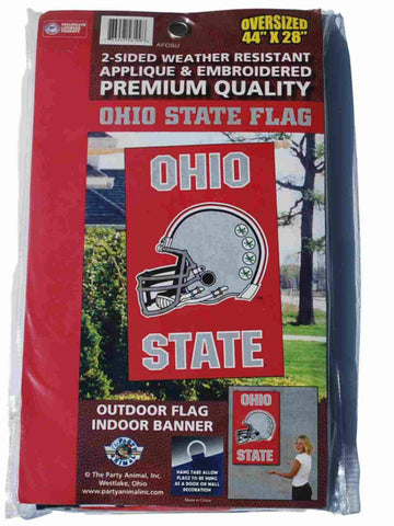 "Shop Ohio State Buckeyes Party Animal Inc. Football Red Vertical Flag 44"" x 28"""