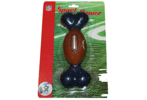 Shop Los Angeles Chargers Hard Rubber Football Sport Bonez Navy Dog Bone Chew Toy