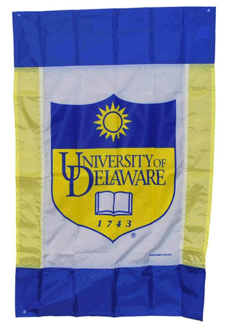"Shop Delaware Fightin' Blue Hens Blue Outdoor Indoor Vertical Flag Banner 27"" x42"""