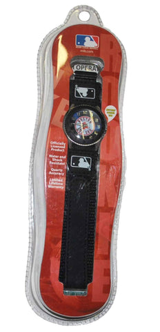 Shop Boston Red Sox Game Time Youth Black Circle Logo Water & Shock Resistant Watch