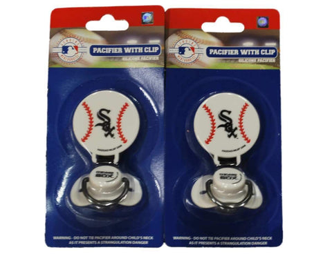 Shop Chicago White Sox Printed Baseball Silicone Pacifiers Combo