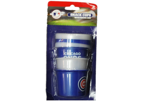 Shop Chicago Cubs MLB Team Logo Blue 3 Pack Snack Cups Swivel Lids