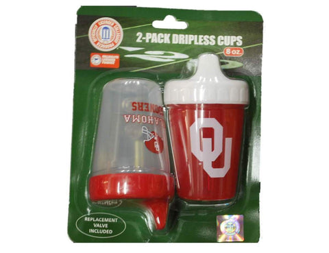Shop Oklahoma Sooners NCAA Team Logo Red Twin Pack 8 oz Toddler Dripless Sippy Cups