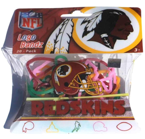Washington Redskins NFL Forever Collectibles YOUTH Silly Logo Bandz (20 Pack)