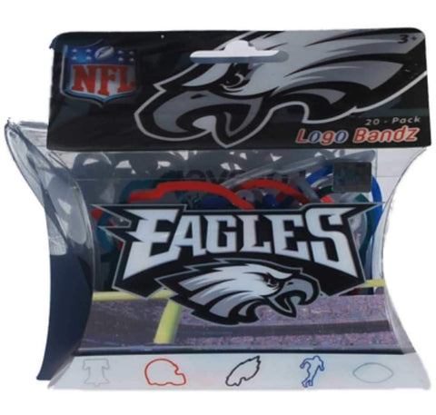 Shop Philadelphia Eagles NFL Forever Collectibles YOUTH Silly Logo Bandz (20 Pack)