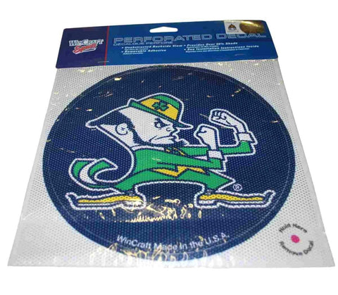 Shop Notre Dame Fighting Irish WinCraft Navy Removable Adhesive Perforated Decal - Sporting Up