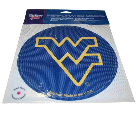 Shop West Virginia Mountaineers WinCraft Navy Removable Adhesive Perforated Decal - Sporting Up