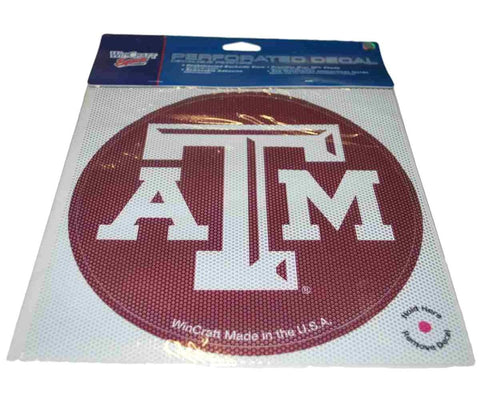 Shop Texas A&M Aggies WinCraft Maroon Removable Adhesive 50% Shade Perforated Decal - Sporting Up