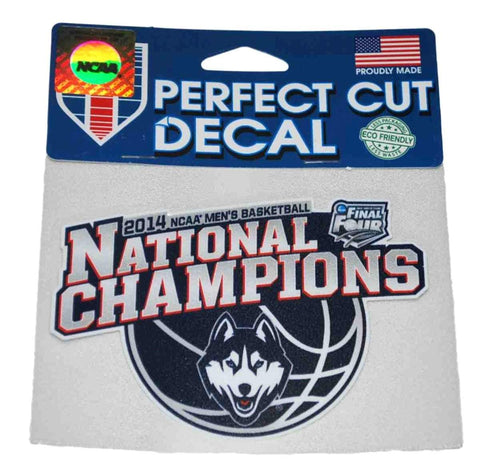 "Shop Uconn Huskies WinCraft 2014 National Champions Perfect Cut Decal (4"" x 5"") - Sporting Up"