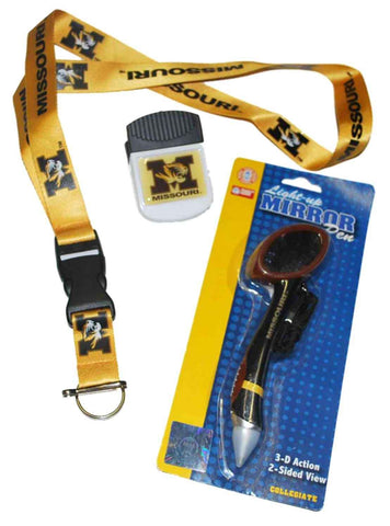 Shop Missouri Tigers SC Sports Mirror Pen Magnetic Clip and Lanyard Set