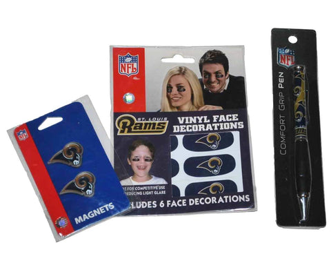 Shop St. Louis Rams Siskiyou Face Decorations, Magnets, and Pen Gameday Set - Sporting Up