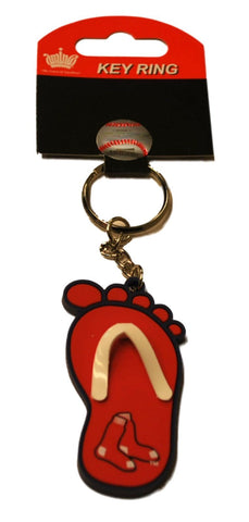 Shop Boston Red Sox Aminco Inc. Red Blue Flip Flop Foot Key Ring Keychain
