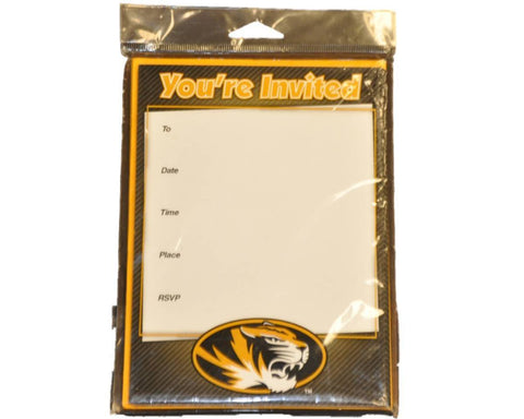 "Shop Missouri Tigers Fanatic Pack of 10 Black and Gold Invitation Cards 5"" x 7"""