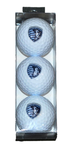 Shop Sporting KC Kansas City WinCraft 3 Pack Sleeve Logo Golf Balls