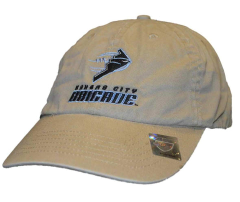 Shop Kansas City Brigade Antigua Beige Adjustable Strap Slouch Hat Cap - Sporting Up