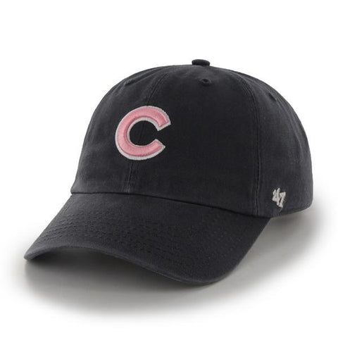 edac86897 Chicago Cubs 47 Brand Women Navy Pink Clean Up Adjustable Slouch Hat Cap
