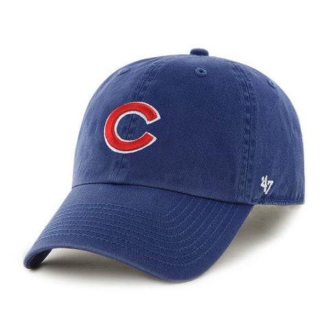 701fa4a95ba Chicago Cubs 47 Brand Royal Blue Red Clean Up Adjustable Slouch Hat Cap