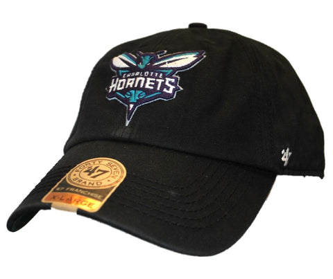 Charlotte Hornets 47 Brand The Franchise Black Fitted Slouch Hat Cap