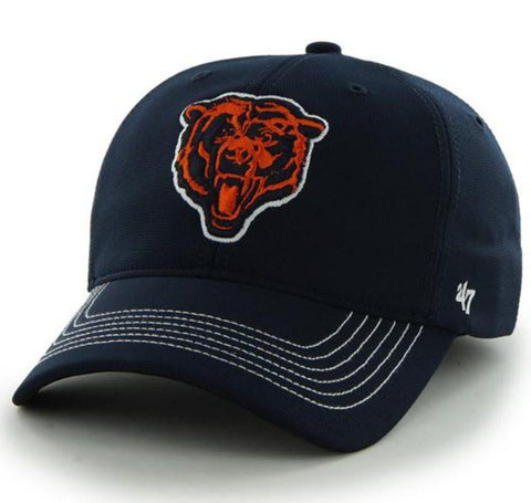 Shop Chicago Bears 47 Brand Navy Bear Logo Game Time Performance Flexfit Hat Cap