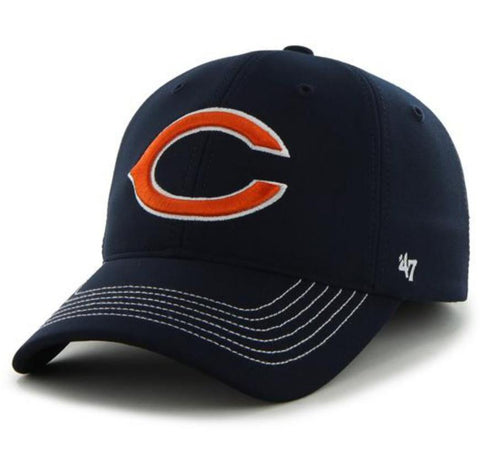 Shop Chicago Bears 47 Brand Navy Game Time Closer Performance Flexfit Hat Cap - Sporting Up