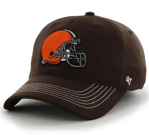 b89232ad2758f Shop Cleveland Browns 47 Brand Brown Game Time Closer Performance Flexfit  Hat Cap