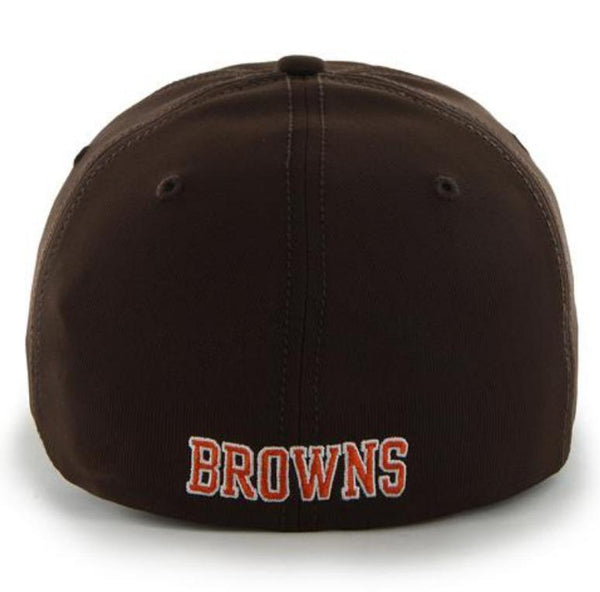 0c448008be3a7 Cleveland Browns 47 Brand Brown Game Time Closer Performance Flexfit Hat Cap